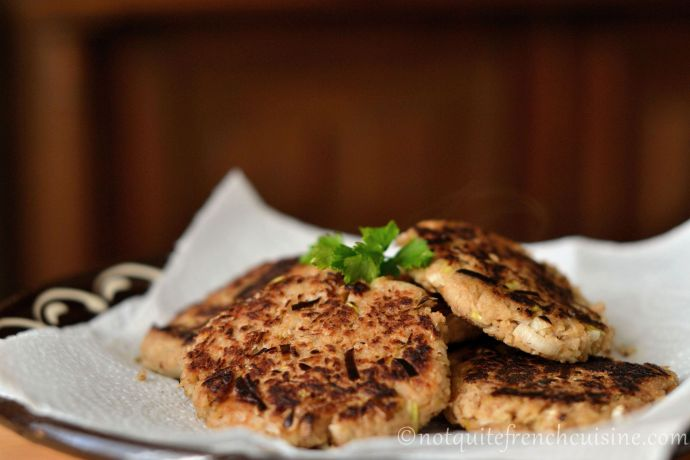 Parsley root patties or vegetarian burgers