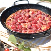 Classic French cherry clafoutis